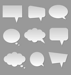 cloud bubble speech vector image