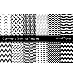Collection of geometric seamless patterns wave vector