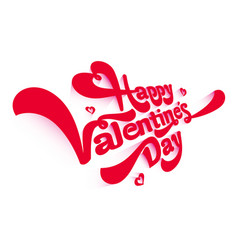 Congratulations on valentine day gift for lover vector