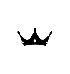 crown icon black on white vector image