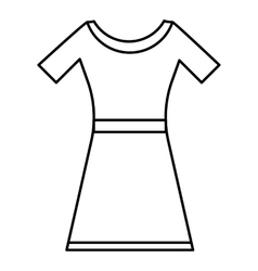 Dress icon outline style vector