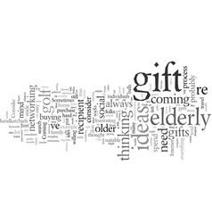 Elderly gift ideas vector
