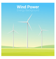 Energy concept background with wind turbine 22 vector