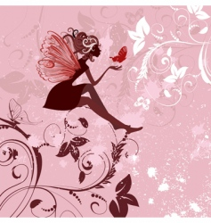fairy pattern grunge vector image