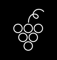Flat line grape icon vector
