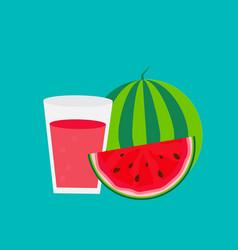 fresh watermelon juice background vector image