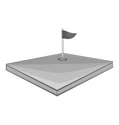 Golf course icon gray monochrome style vector