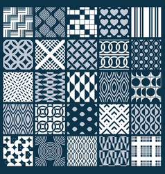 Graphic ornamental tiles collection set of vector