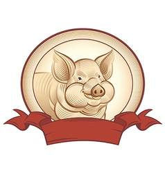 Graphical pig vector image