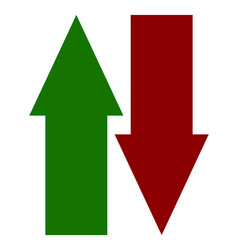 green red up down arrow icons vertical arrows in vector image