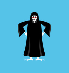 grim reaper angry death evil aggressive skeleton vector image