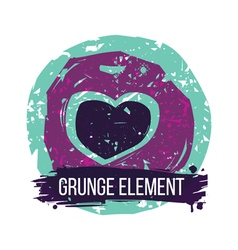 Grunge heart colorful vector image