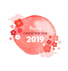 happy chinese new year 2019 the year of pig banner vector image