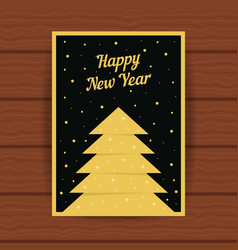 Happy new year with golden greeting card vector