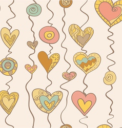 Heart On Stripe vector image