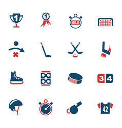 hockey icon set vector image