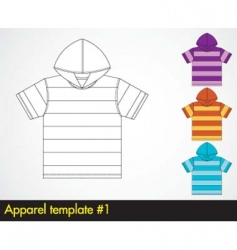 hoody template vector image