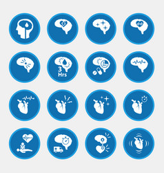 Icon set of stroke disease for infographic circle vector