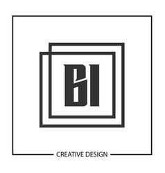 initial letter bi logo template design vector image
