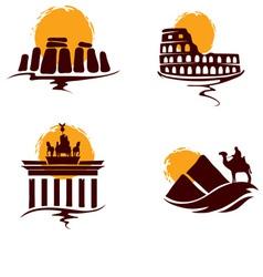 Landmarks world vector