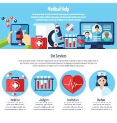 Medical Web Site vector image