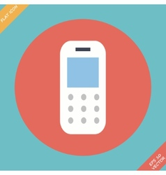 Mobile phone - Flat design vector image
