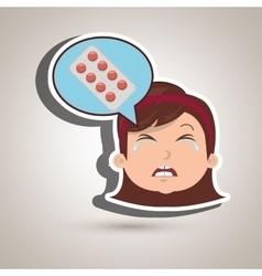 Nurse tooth sick pain vector