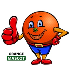 Orange Mascot vector image
