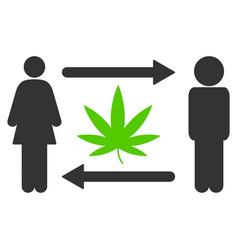 people exchange cannabis icon vector image