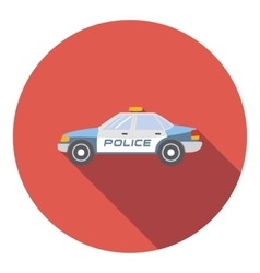 Police car icon flat style vector