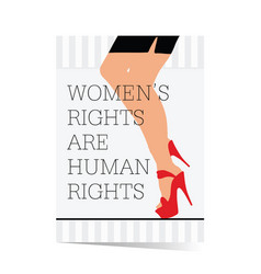 Poster of woman rights with legs vector