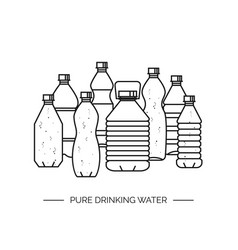 pure drinking water line a vector image