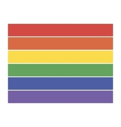 Rainbow flag icon lgbt community sign vector