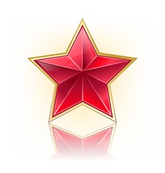 Red five star vector