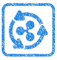 ripple turnover framed stamp vector image