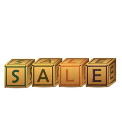 sale alphabet letter boxes vector image