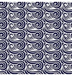 Sea Seamless Pattern Abstract asian waves vector