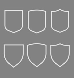 Security assurance icons set guard shield plain vector
