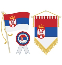 serbia flags vector image