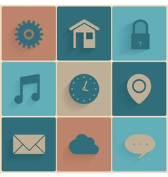 Set of simple icons vector image