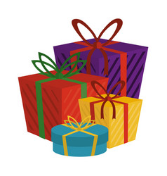 shopping gift boxes vector image