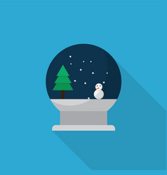 snow globe icon set of great flat icons with vector image
