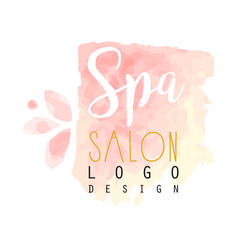 spa salon delicate logo original design for vector image