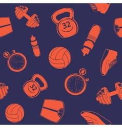 Sport seamless pattern vector image