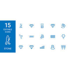 stone icons vector image