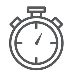 stopwatch line icon time and measure timer sign vector image