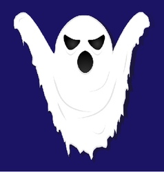 Terrible gloomy ghost on striped background vector