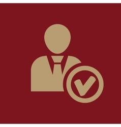 The add user icon Add friend and avatar symbol vector