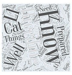 Things To Know Before Breeding Your Cat Word Cloud vector