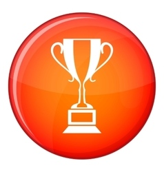 Trophy cup icon flat style vector image